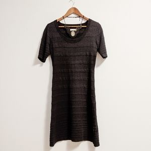 Calvin Klein Black Ribbed Sweater Dress sz Small